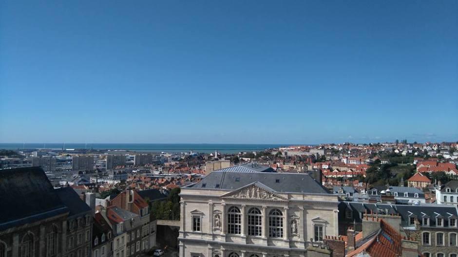 ブローニュ=シュル=メールの鐘楼から見た景色