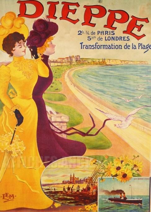 ディエップの海水浴場のポスター