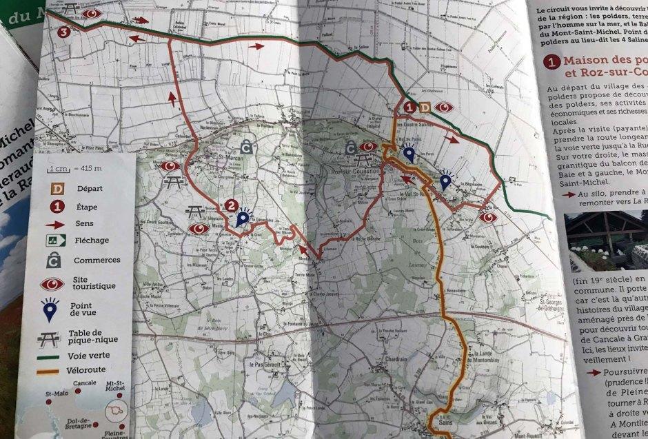 モン・サン・ミッシェルのサイクリングコース