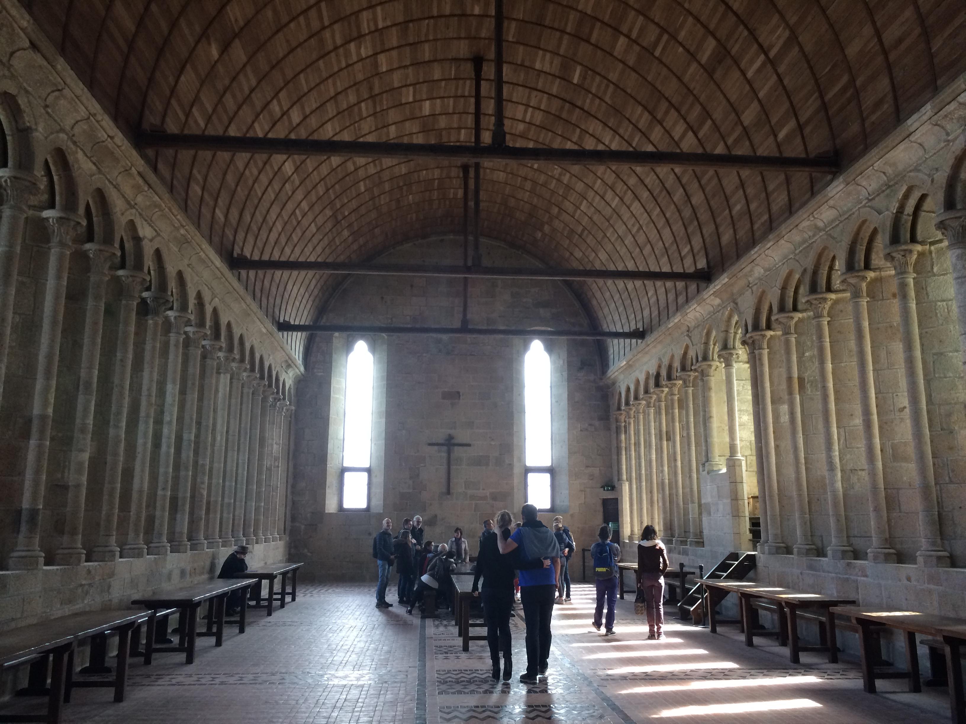 モン・サン・ミッシェル修道院内