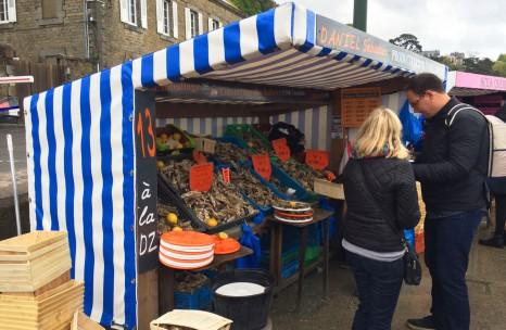 カンカルの牡蠣市場