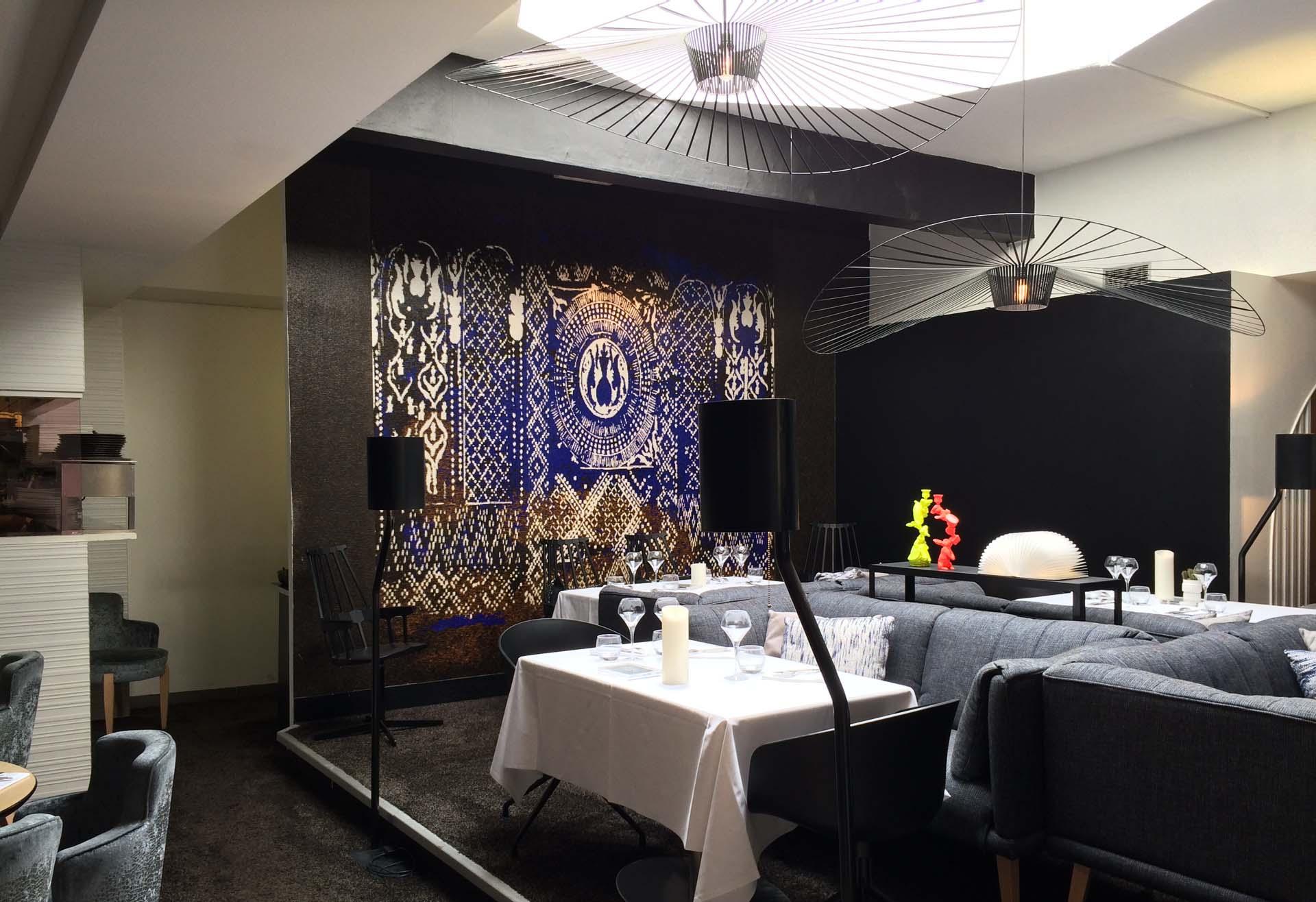レンヌのガレット専門店ラ・サン・ジョルジュの内装
