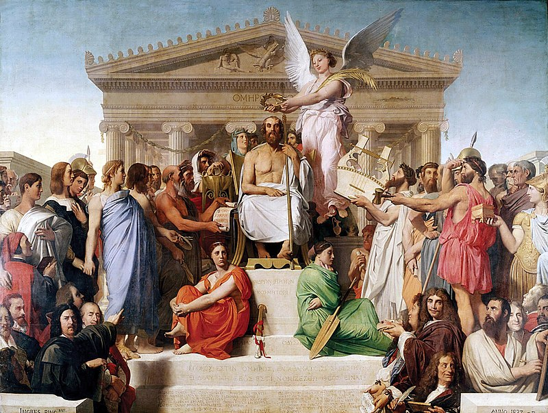 800px-Jean_Auguste_Dominique_Ingres,_Apotheosis_of_Homer,_1827