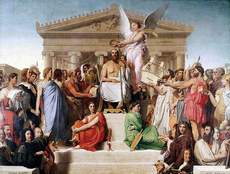 800px-Jean_Auguste_Dominique_Ingres,_Apotheosis_of_Homer,_1827