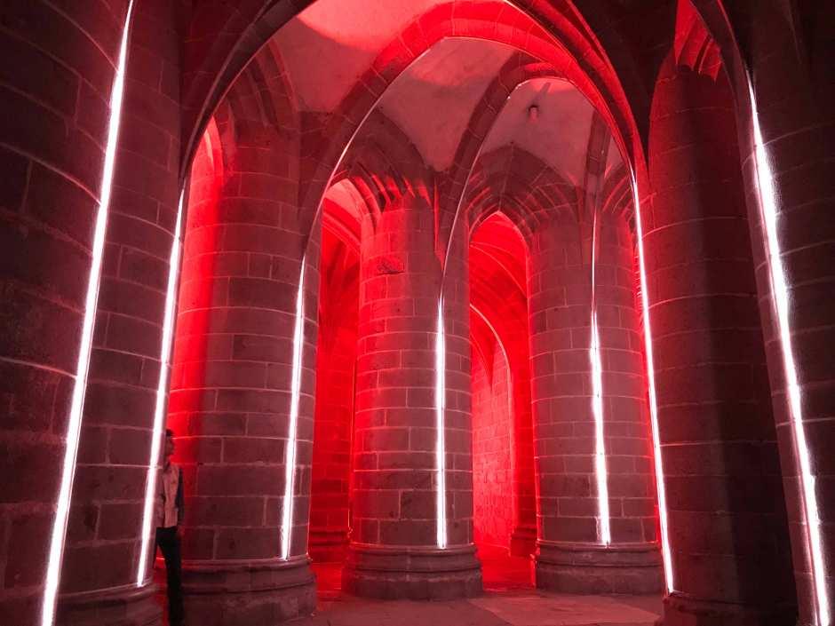 2018年のモン・サン・ミッシェル修道院夜間拝観