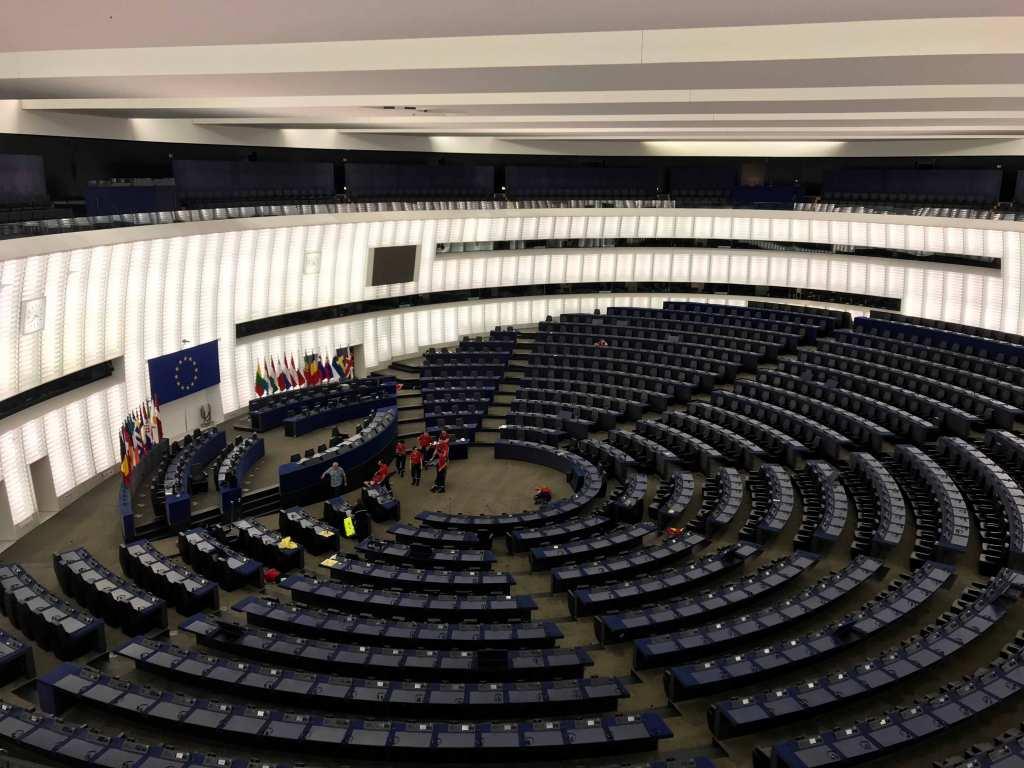 ストラスブール欧州議会の会議場