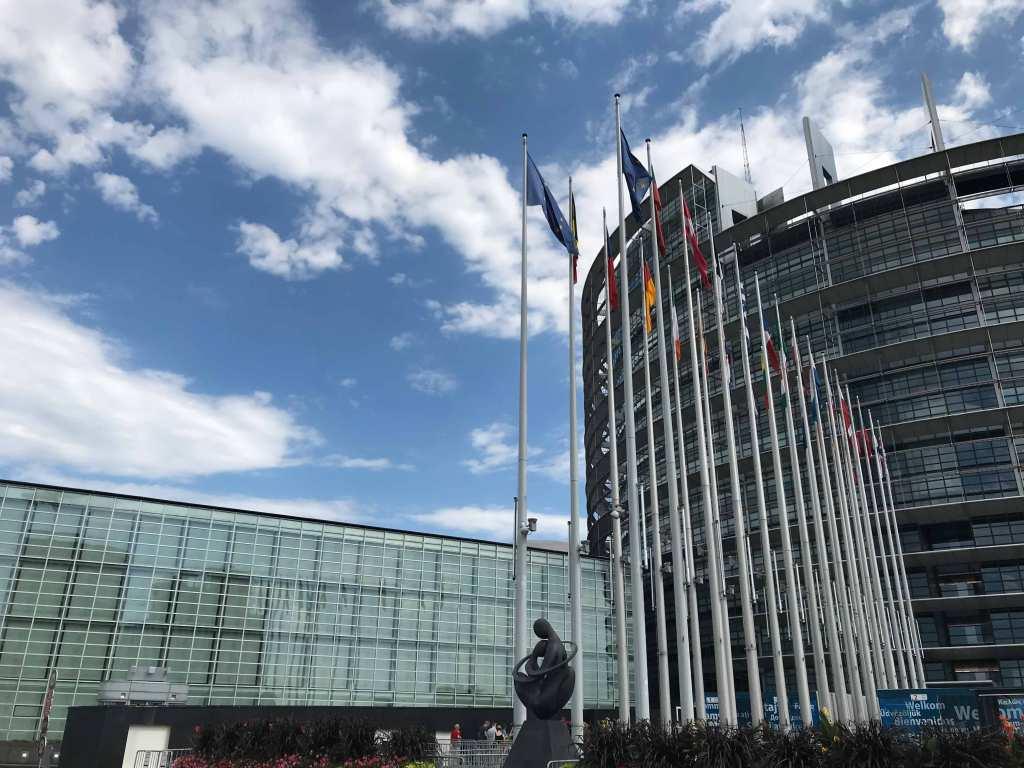 EUの街ストラスブールで欧州議会...